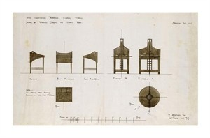 "Charles Rennie Mackintosh Fine Art Open Edition Giclée:""Designs for Writing Desks"""