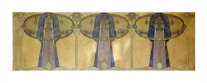 "Frances Macdonald MacNair Fine Art Open Edition Giclée:""Design for a Decorative Frieze"""