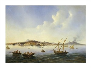 "Neapolitan School Fine Art Open Edition Giclée:""Fishing Boats in the Bay of Naples"""