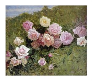 "Luigi Rossi Fine Art Open Edition Giclée:""A Study of Roses"""