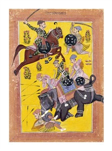 "Sirohi Fine Art Open Edition Giclée:""Sindhu Ragini on Horseback"""