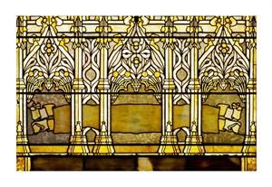 "Tiffany Studios Fine Art Open Edition Giclée:""Leaded Glass Window, One of a Pair"""