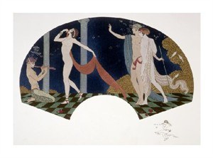 "Georges Barbier Fine Art Open Edition Giclée:""Fan: Four Figures"""