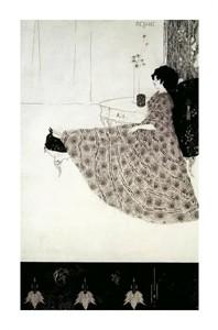 "Aubrey Beardsley Fine Art Open Edition Giclée:""Seated Woman"""