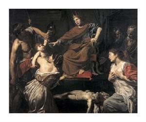 """Jean Valentin De Boulogne Fine Art Open Edition Giclée:""""Judgement of Solomon"""""""