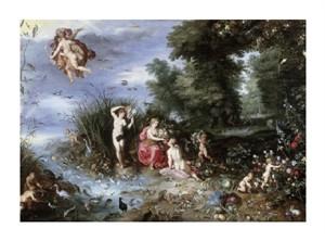 """Jan Bruegel the Elder Fine Art Open Edition Giclée:""""Allegory of the Elements"""""""
