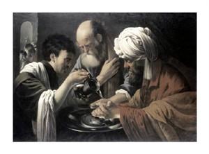 """Hendrick Ter Brugghen Fine Art Open Edition Giclée:""""Pilate Washing His Hands"""""""