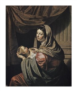 "Jan Van Bylert Fine Art Open Edition Giclée:""Madonna & Child"""