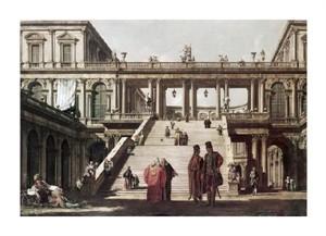 "Canaletto Fine Art Open Edition Giclée:""Castle Yard"""