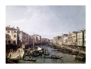 "Canaletto Fine Art Open Edition Giclée:""Grand Canal, Venice"""