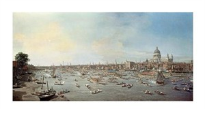 "Canaletto Fine Art Open Edition Giclée:""London & the Thames"""