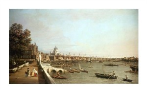 "Canaletto Fine Art Open Edition Giclée:""London from Somerset House"""