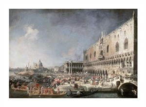 "Canaletto Fine Art Open Edition Giclée:""Reception of French Ambassador in Venice"""