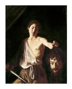 "Caravaggio Fine Art Open Edition Giclée:""David with the Head of Goliath"""