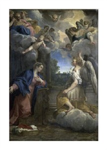 "Agostino Carracci Fine Art Open Edition Giclée:""Annunciation"""