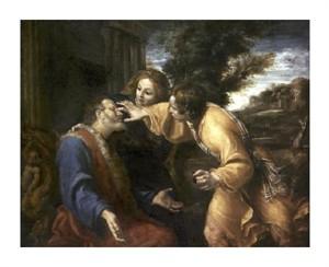 "Annibale Carracci Fine Art Open Edition Giclée:""Tobias Heals His Blind Father"""