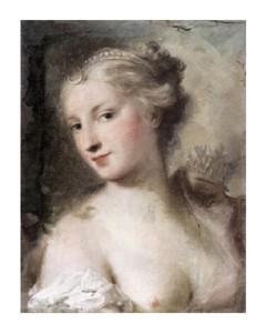 "Rosalba Carriera Fine Art Open Edition Giclée:""Diana"""