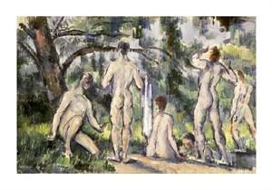 "Paul Cezanne Fine Art Open Edition Giclée:""Bathers"""