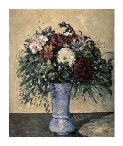 "Paul Cezanne Fine Art Open Edition Giclée:""Bouquet in a Blue Vase"""