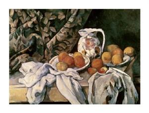 """Paul Cezanne Fine Art Open Edition Giclée:""""Curtain, Carafe & Fruit"""""""
