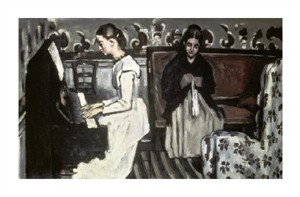 "Paul Cezanne Fine Art Open Edition Giclée:""Girl at the Piano-the Tannhause Overture"""