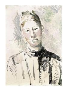 "Paul Cezanne Fine Art Open Edition Giclée:""Madame Cezanne"""