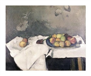 "Paul Cezanne Fine Art Open Edition Giclée:""Plate of Peaches"""