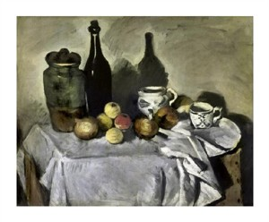 "Paul Cezanne Fine Art Open Edition Giclée:""Still Life with Table Utensils"""
