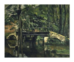 "Paul Cezanne Fine Art Open Edition Giclée:""The Bridge at Maincy (Le Pont de Maincy)"""