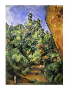 "Paul Cezanne Fine Art Open Edition Giclée:""The Red Rock (Le Rocher Rouge)"""