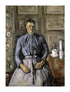 "Paul Cezanne Fine Art Open Edition Giclée:""Woman at the Cafeteria"""