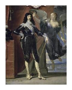 "Philippe De Champaigne Fine Art Open Edition Giclée:""Louis Xiii Crowned By Victory"""