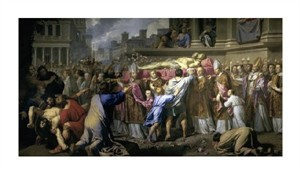 """Philippe De Champaigne Fine Art Open Edition Giclée:""""Transferring the Bodies of St. Gervase and St. Protase"""""""