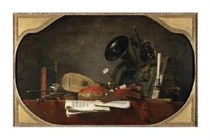 "Jean Baptiste Simeon Chardin Fine Art Open Edition Giclée:""Attributes of Music"""