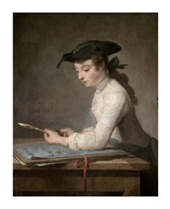 "Jean Baptiste Simeon Chardin Fine Art Open Edition Giclée:""Young Draftsman"""
