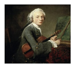 "Jean Baptiste Simeon Chardin Fine Art Open Edition Giclée:""Young Man with a Violin"""