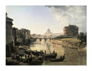 "Silvestre Chedrin Fine Art Open Edition Giclée:""Rome, Castel San Angelo"""