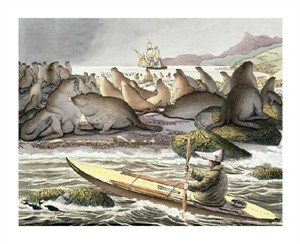 """Luis Choris Fine Art Open Edition Giclée:""""View of the Island of Saint-Paul in the Sea"""""""