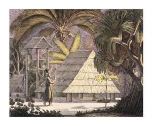 """Luis Choris Fine Art Open Edition Giclée:""""View of the Radak Islands"""""""