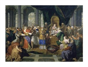 "Charles Antoine Coypel Fine Art Open Edition Giclée:""Athaliah Chased from the Temple"""