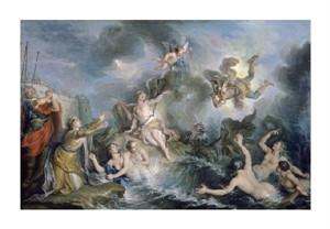 "Charles Antoine Coypel Fine Art Open Edition Giclée:""Perseus Rescues Andromeda"""
