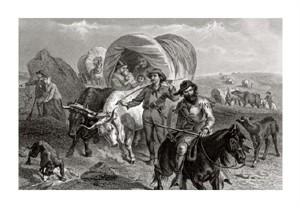 "Felix Octavius Carr Darley Fine Art Open Edition Giclée:""Emigrants Crossing the Plains"""