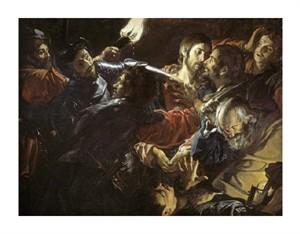 "Jean Valentin De Boulogn Fine Art Open Edition Giclée:""Taking of Christ"""