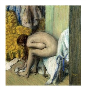 "Edgar Degas Fine Art Open Edition Giclée:""After the Bath, Woman Drying Her Feet, 1886"""