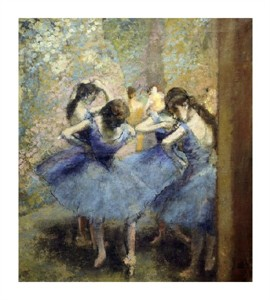"Edgar Degas Fine Art Open Edition Giclée:""Blue Dancers"""