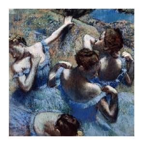 """Edgar Degas Fine Art Open Edition Giclée:""""Blue Dancers (Les Danseuses Bleues)"""""""