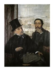 "Edgar Degas Fine Art Open Edition Giclée:""Degas and Evariste De Valernes"""
