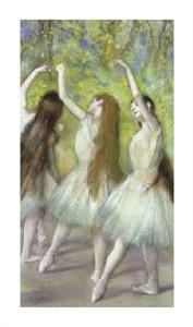"""Edgar Degas Fine Art Open Edition Giclée:""""Green Dancers"""""""