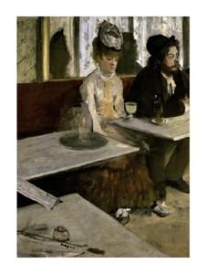"""Edgar Degas Fine Art Open Edition Giclée:""""In a Cafe (Absinthe)"""""""