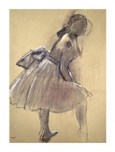 "Edgar Degas Fine Art Open Edition Giclée:""Profile of a Dancer Upright"""